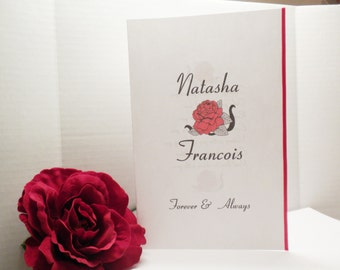 Wedding Invitation-Red Rose Invitation, Red Wedding Invitations, Invitations, Wedding Invites, Red Roses, Marriage, Weddings-WI-3
