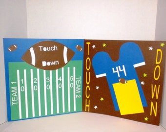 Football theme Scrapbook Premade Pages, Football, Premade Pages, Scrapbooking, Football Pages