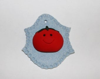 Polymer Clay Tomato Trophy, Kitchen Decor, Kitchen Decoration, Wall Decoration or Door Decoration, Decor, Handmade
