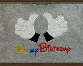 It's My Birthday Mickey Mouse shirt, boys, infant, toddler gray SHORT SLEEVE