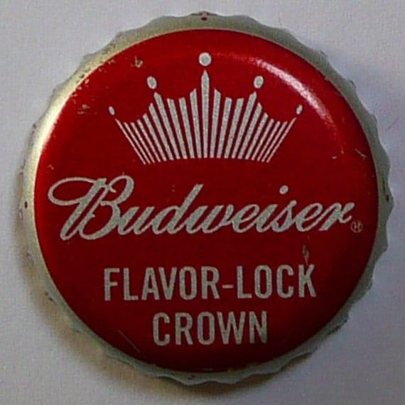 20 Used Budweiser Beer Bottle Caps NO Dents Clean Group