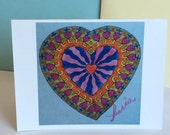 Card Art Heart Greeting Card Love Pencil Art Blank Greeting Card and Envelope