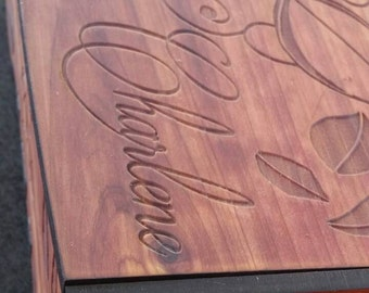 Personalized Engraved Keepsake Box 9.5""