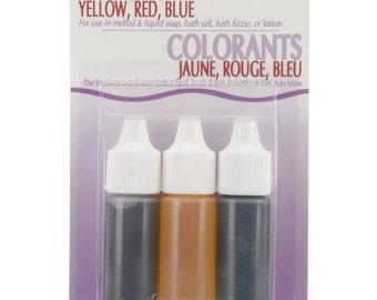 Red/Yellow/ Blue Liquid Soap Colors .75 oz., (53001)