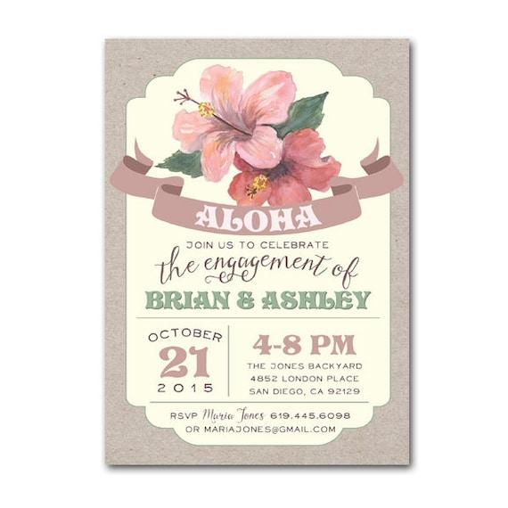 Luau Engagement Party Invitation I Do Bbq Couples Shower