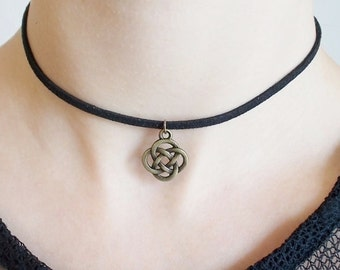 choker handmade jewellery - celtic jewellery - fashion jewellery - 90s necklace - celtic knot choker