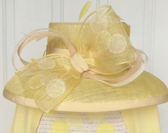 Yellow Sinamay Hat