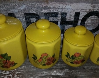 Vintage Full Set of Kromex Canisters FREE SHIPPING