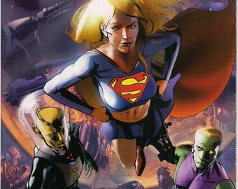 DC Comics SUPERGIRL & The Legion of Super-Heroes #32 Tony Bedard Dennis Calero Cosmic Boy Element Lad Saturn Girl Light Lass Brainiac 5