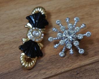 Vintage Jewelry Brooch Pin   Design  Bow/ Snowflake/Flower /Gold/Silver/ CZ/ Rhinestones  L-009