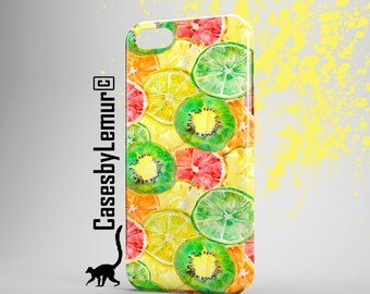 FRUITY Iphone case Tropical Iphone 6 case Kiwi Iphone 5 case Red Iphone 6 plus case Summer Iphone 5C case Bright Iphone 5s case New Cover