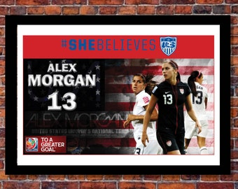 Women's World Cup Soccer | Alex Morgan Poster | 19 x 13 inches