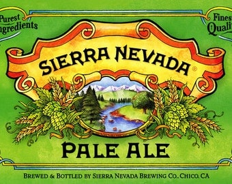 Sierra Nevada Pale Ale Poster, Quality Beer, Finest Quality, Purest Ingredients