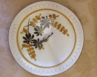 """Stangl """"Golden Blossom"""" Sandwich Plate"""