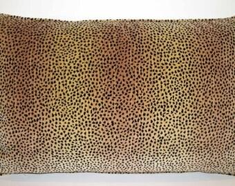 Kravet Baby Cheetah Velvet Pillow
