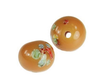 10mm Painted Glass Beads-Beige  (144pcs)