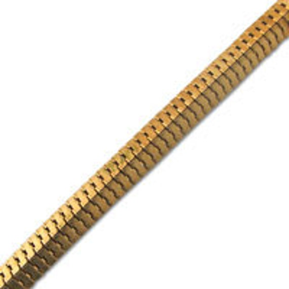 7.5mm Pyramid Snake Chain (1 Foot)