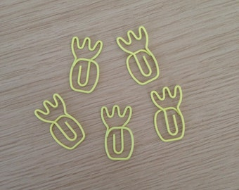 Set of 5 pineapple paperclips (PA01)