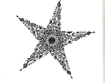 Starfish in Ink