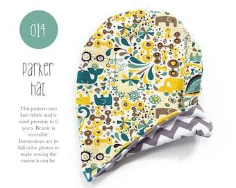 014 Parker Hat Slouch Beanie Reversible Hat PDF Kid Sewing Pattern Baby Toddler Preemie through 6T Sadi & Sam