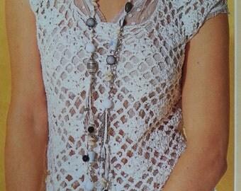 Handmade crochet top, summer crochet top, romantic sweater, crochet jumper women crochet clothes MADE TO ORDER