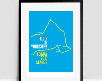 Tour De Yorkshire Stage 2 Selby to York Limited Edition Giclee A3 Print