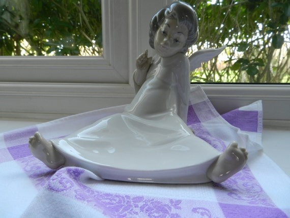 Wondering lladro porcelain angel figurine by dottiandminnie - Consider including lladro porcelain figurines home decoration ...