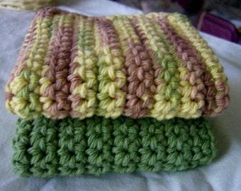 100% Cotton Crochet Crocheted Dishcloths Washcloths Dishrags