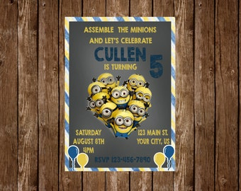 Minion Birthday Party Invitation