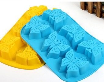 New style 6-holes butterflies mold Silicone Cake Mold Handmade Chocolate Mould Ice tray cube pudding mould handmade soap mold Baking tools