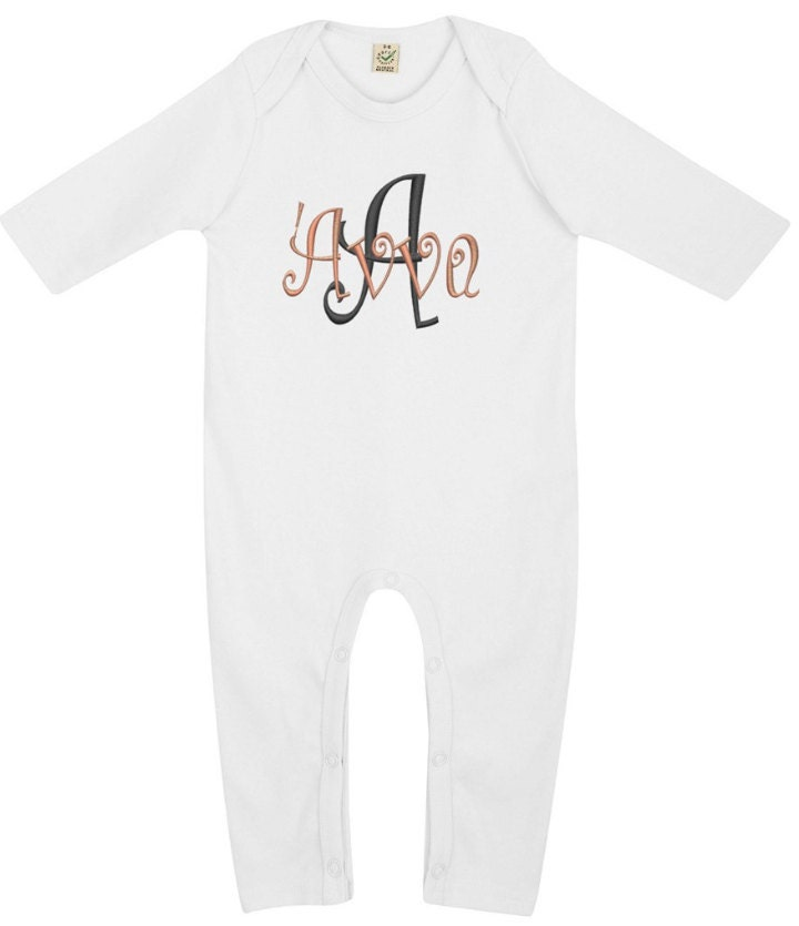 Baby Gift With Name : Personalized baby gift name clothes organic jumpsuit