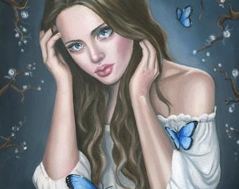 Female Portrait Oil Painting - Fine Art Giclee Print