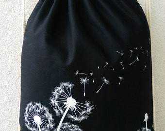 Turn bag / backpack black Pusteblume