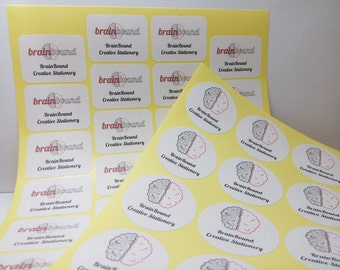 Logo stickers, Return address stickers, Round stickers, Rectangle stickers, Adhesive labels