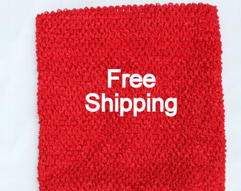 Lined Tutu Top - Ships Free - Red Crochet Top 12 X 10 inches Lined - Red Tutu Top Lined - Free Shipping - Waffle Crochet Top