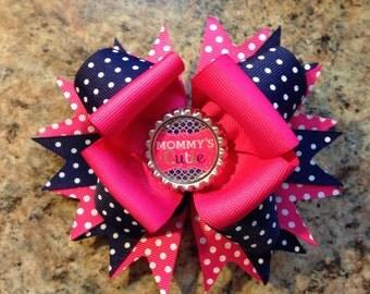 Mommy's Cutie hair bow