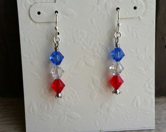 Red White and Blues Earrings