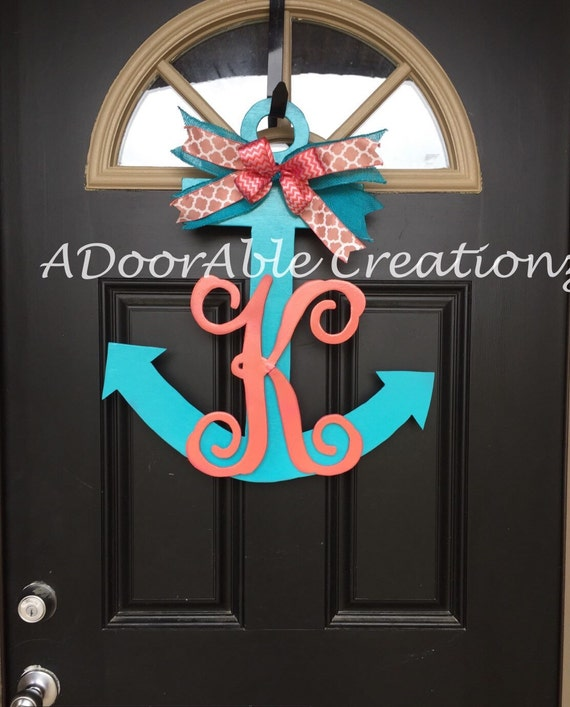 Painted Anchor Door Hanger