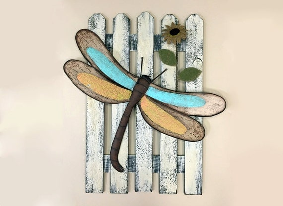 Dragonfly String Art Rustic Home Decor Nursery By Set Of 2 Wooden