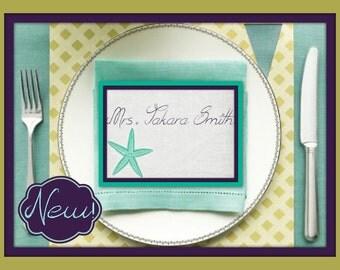 Custom Nautical Place Cards, Table Cards, Custom Table Cards, Nautical Table Cards, Custom Wedding Place Cards, Wedding Table Cards - 10 set