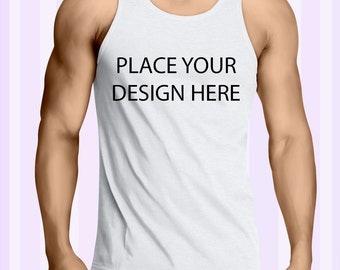 Custom Design Place Anything Here Men Tank