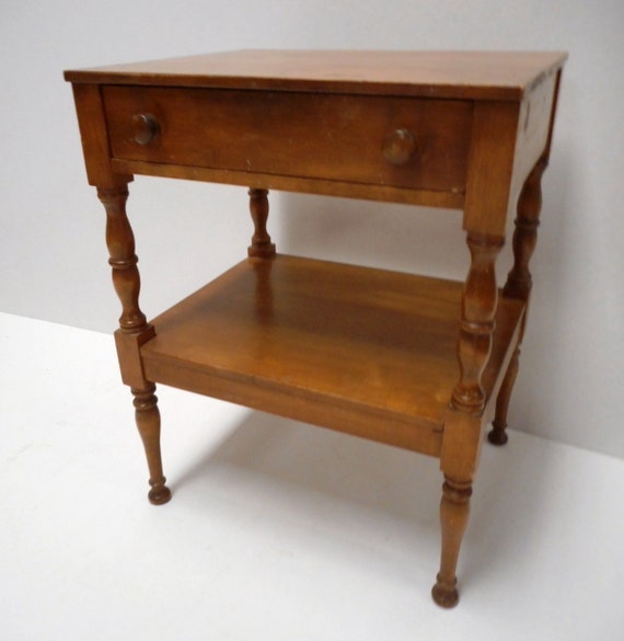 Reduced Conant Ball Side Table With Drawer By Monkeyfootjunction