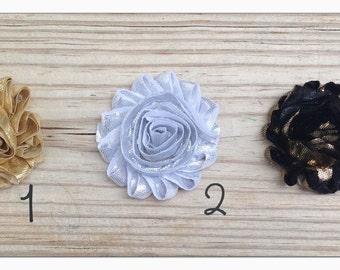 Metallic Shabby Flower Hair Clip