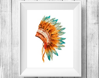 indian feather headdress on Etsy, a global handmade and ...