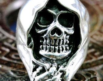 Skull, ring,925 sterling silver  -  4915