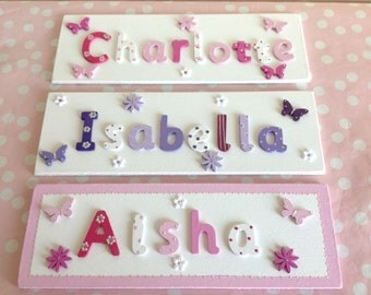 Bedroom name plates etsy uk for Childrens bedroom door name plates