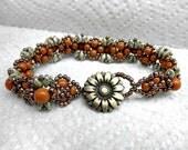 Victorian Pearl Bracelet.Seed Bead Jewelry,Victorian Handwoven Bracelet, Victorian Jewelry