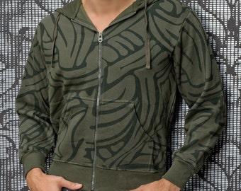Mens Jacket Camouflage Mens Zipper Sweat Jacket Hooded Zipper Hoodie Sweater