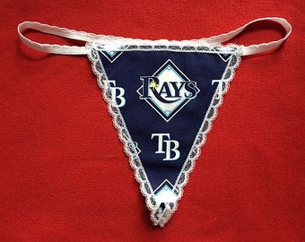 Womens TAMPA BAY RAYS G-String Thong Female Mlb Lingerie Baseball Underwear