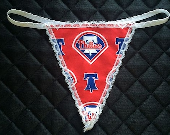 Womens PHILADELPHIA PHILLIES G-String Thong Female Mlb Lingerie Baseball Underwear